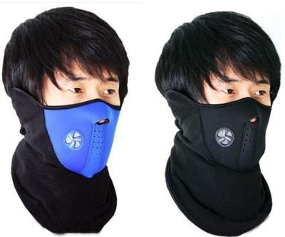 Psylane Black, Blue Bike Face Mask for Boys & Girls