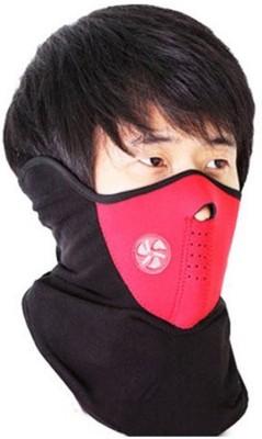 FloMaster Black Bike Face Mask for Men(Size: Free,  Balaclava)