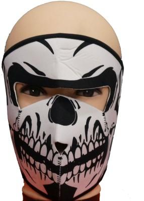 Psylane White Bike Face Mask for Boys & Girls(Size: Free,  Balaclava)