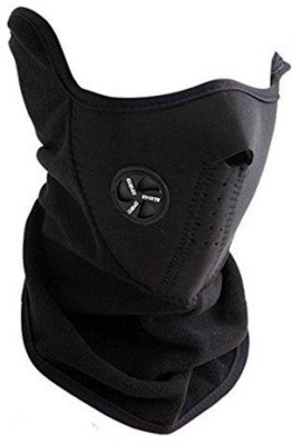 AutoKraftZ Black Bike Face Mask for Men & Women
