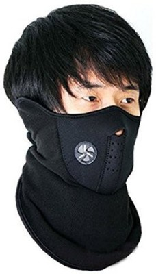 Casttle Black Bike Face Mask for Men & W...