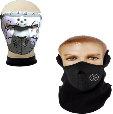 atyourdoor Black, Grey Bike Face Mask for Boys