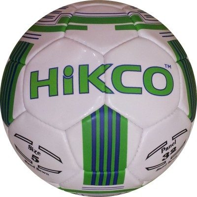 Hikco Ring Football - Size: 5, Diameter: 22 cm(Pack of 1, White, Green, Blue)