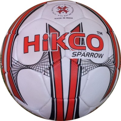 Hikco Sparrow Football - Size: 5, Diameter: 22 cm(Pack of 1, White, Red, Black)