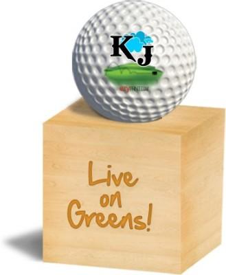 ezyPRNT KJ Golf Ball - Size: 4, Diameter: 4.26 cm(Pack of 1, White)