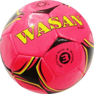Wasan Kiddy Football - Size: 3, Diameter: 60 cm(Pack of 1, Pink)