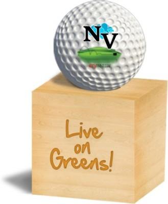 ezyPRNT NV Golf Ball - Size: 4.26 cm, Diameter: 4.26 cm(Pack of 1, White)