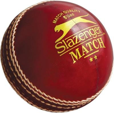 Slazenger Match Cricket Ball - Size: 1, Diameter: 2.5 cm(Pack of 1, Red)