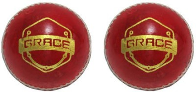 Brawn Brace Cricket Ball -   Size: Standard,  Diameter: 7 cm(Pack of 2, Red)