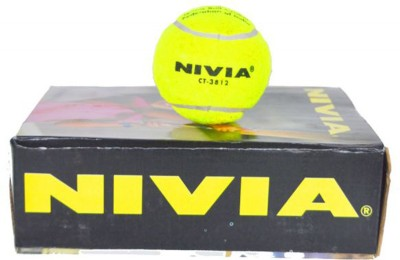 Nivia CT 3812-Y Cricket Ball - Size- 5, Diameter- 3 cm