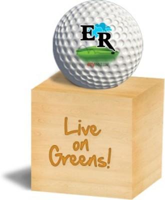 ezyPRNT ER Golf Ball - Size: 4, Diameter: 4.26 cm(Pack of 1, White)