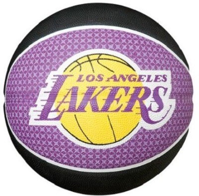 Spalding Los Angles Lakers Basketball - Size- 7, Diameter- 7.5 cm