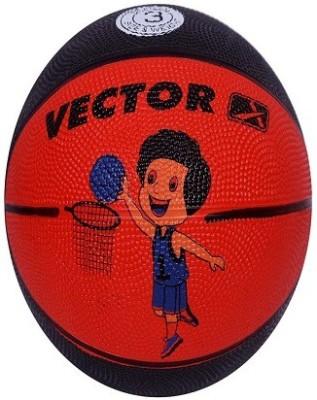 Vector X BB-TOON-ORANGE-BLACK Basketball - Size: 3, Diameter: 57 cm(Pack of 1, Orange, Black)