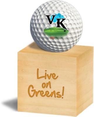ezyPRNT VK Golf Ball - Size: 4.26 cm, Diameter: 4.26 cm(Pack of 1, White)