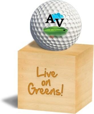 ezyPRNT AV Golf Ball - Size: 4, Diameter: 4.26 cm(Pack of 1, White)