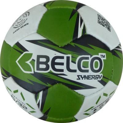 Belco SYNERGY 3 Football - Size: 5, Diameter: 22 cm(Pack of 1, Green, Black, White)