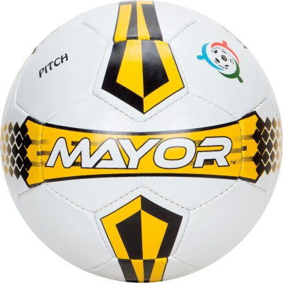 Mayor Pitch Football - Size: 5(Pack of 1, Multicolor)