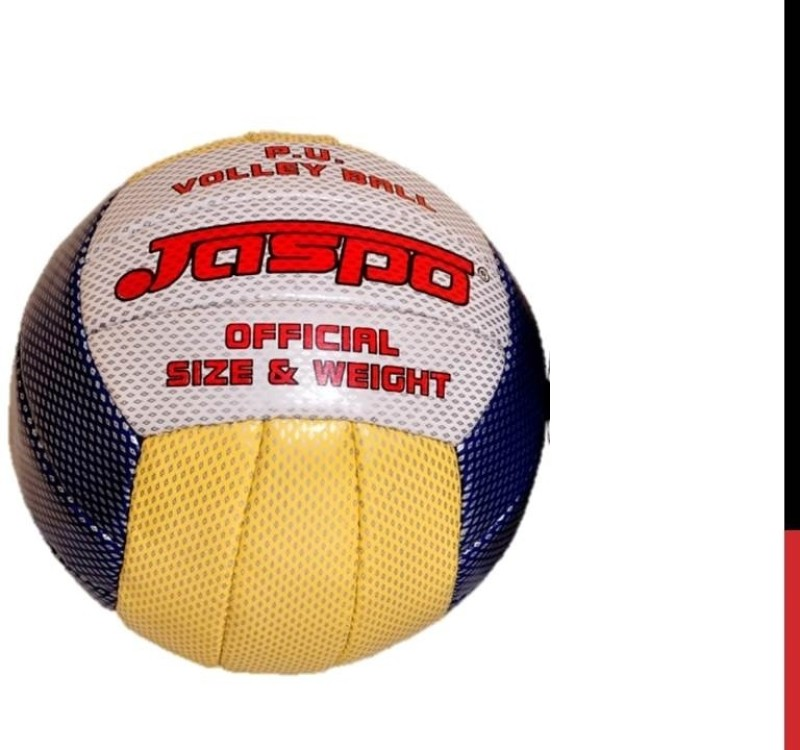 Jaspo Hotshot Volleyball -   Size: 4,  Diameter: 20.32 cm(Pack of 1, Yellow, Blue)