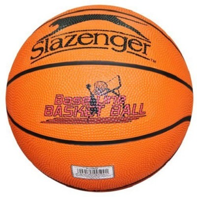 Slazenger V-450 Baseline Basketball - Size- 5, Diameter- 6.5 cm(Pack of 1, Orange)