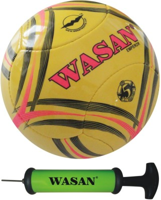 Wasan Emperor With Free Pump Football - Size: 5, Diameter: 70 cm(Pack of 1, Yellow)