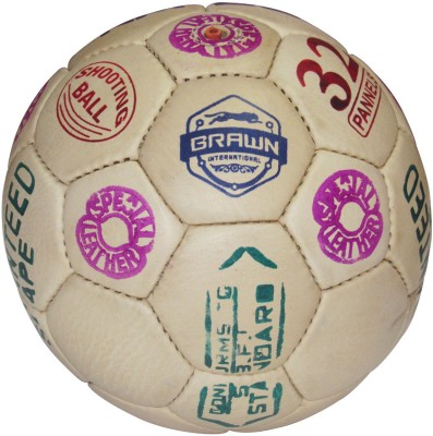 Brawn 32 Panel Shooting Ball - Size: Standard, Diameter: 18 cm(Pack of 1, Multicolor)