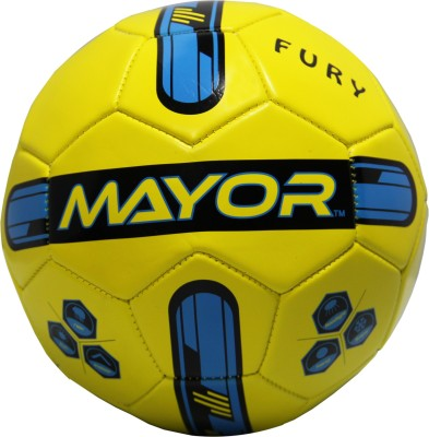 Mayor Fury Football - Size: 3(Pack of 1, Yellow, Blue)