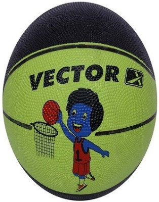 Vector X BB-TOON-GREEN-BLACK Basketball - Size: 3, Diameter: 57 cm(Pack of 1, Green, Black)