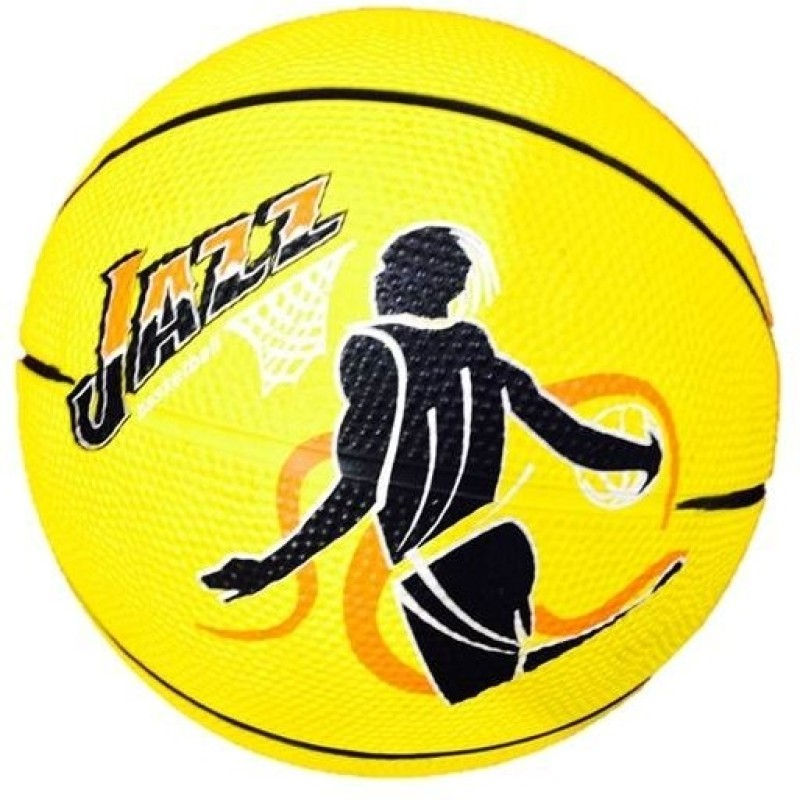 Jaspo Kidzz Basketball -   Size: 3,  Diameter: 17.78 cm(Pack of 1, Yellow)