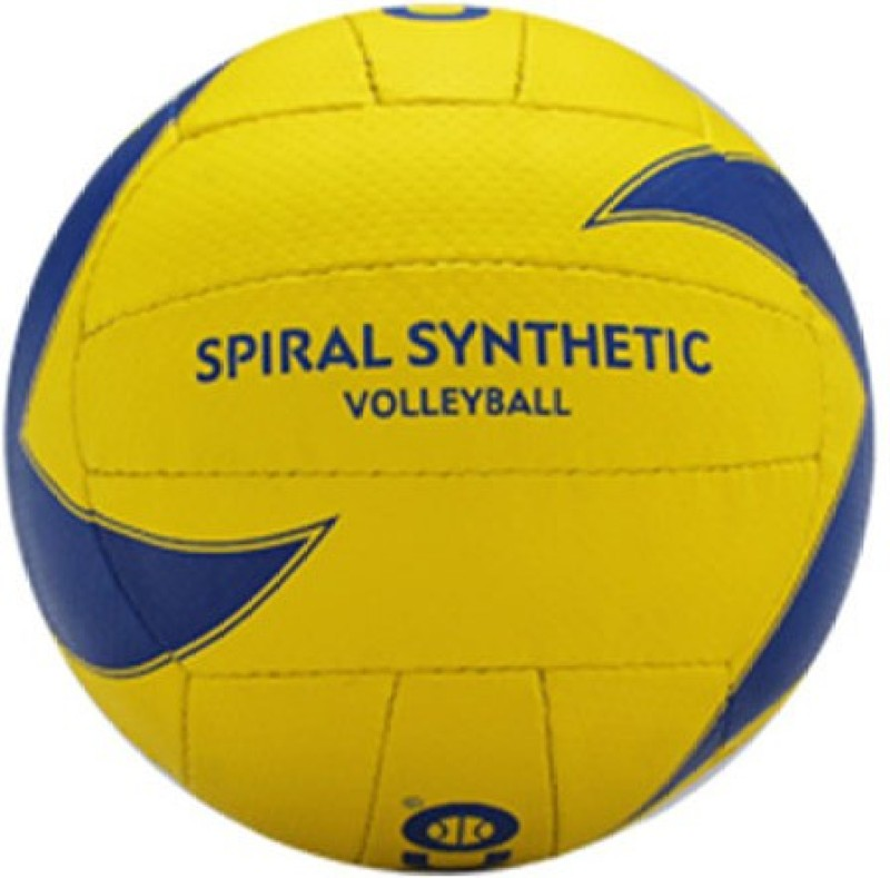 Cosco Spiral Synthetic Volleyball -   Size: 4,  Diameter: 65 cm(Pack of 1, Multicolor)