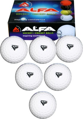 Alfa Hollow Hockey Ball - Size: 5, Diameter: 23 cm(Pack of 6, White)