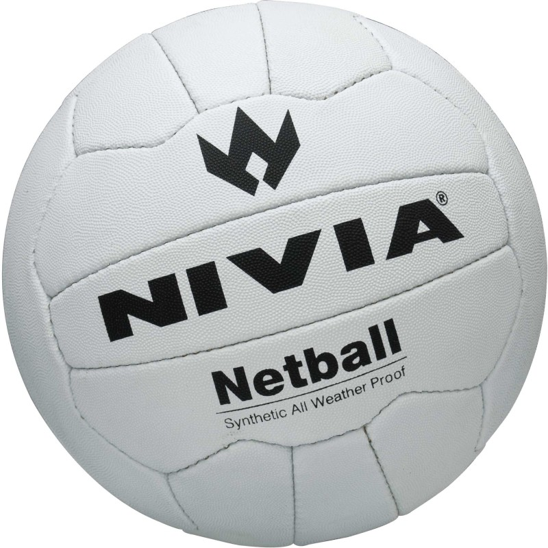 Nivia Hand Stiched Netball -   Size: 5(White, Black)