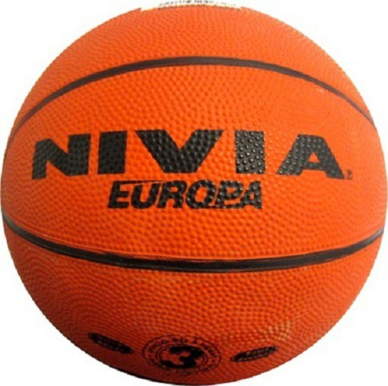 Nivia Europa Basketball -   Size: 3,  Diameter: 18 cm(Pack of 1, Orange)