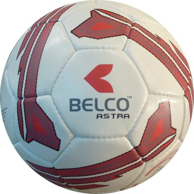 Belco Astra 1 Football - Size: 5, Diameter: 22 cm(Pack of 1, Black, White, Red)