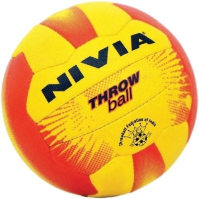 Nivia Grained Throw Ball -   Size: 5(Pack of 1, Yellow, Red)