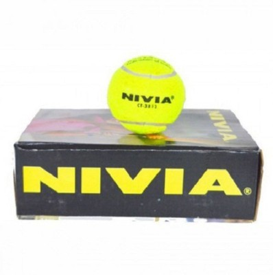 Nivia Cricket Yellow Tennis Ball - Size- standard, Diameter- 6.5 cm