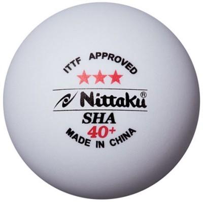 Nittaku SHA 40+ Plastic Ping Pong Ball - Size: 4, Diameter: 4 cm(Pack of 3, White)