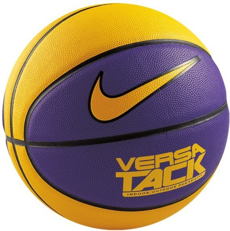 Nike Versa Tack Basketball -   Size: 7,  Diameter: 29.5 cm(Pack of 1, Yellow, Purple)