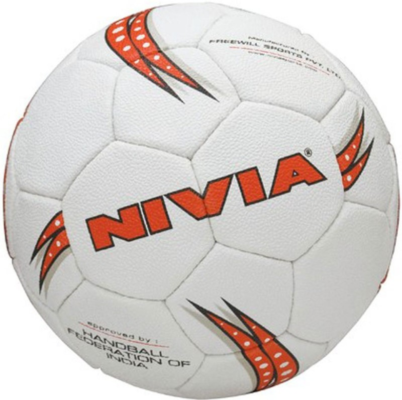 Nivia Synthetic Women Handball -   Size: 4,  Diameter: 2.5 cm(Pack of 1, White, Red)