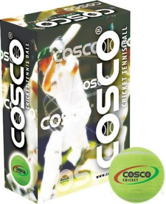 Cosco cricket ( pack of 6) Tennis Ball - Size- 5, Diameter- 2.5 cm