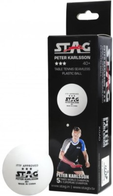 Stag Peter Karlsson 40+ Plastic Ping Pong Ball -   Size: 4,  Diameter: 4 cm