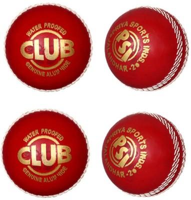 Priya Sports Red Rubber Cricket Ball -   Size: 5,  Diameter: 2.5 cm