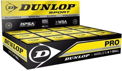 Dunlop Pro Squash Ball - Size: 4cm, Diameter: 4 cm(Pack of 12, Black)