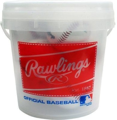 Rawlings Bucket of Balls Baseball - Size- 5, Diameter- 6.86 cm(Pack of 8, Multicolor)