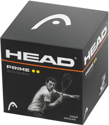 Head Prime Squash Ball - Size: 4, Diameter: 4 cm(Pack of 3, Black Double yellow dot)