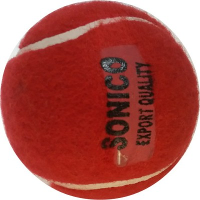 sonico red tennis Cricket Ball -   Size: 5,  Diameter: 10 cm