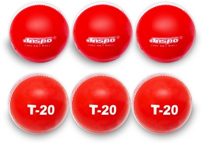 Jaspo T-20 Red Cricket Ball Cricket Ball - Size: 5, Diameter: 7 cm(Pack of 6, Red)