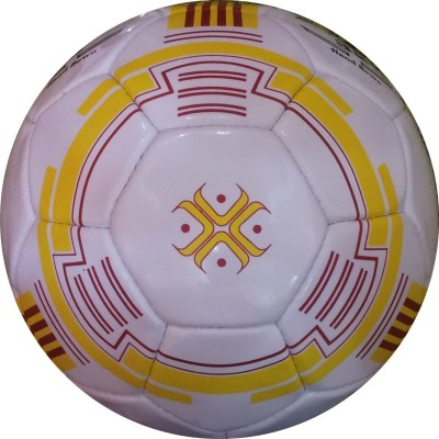 Hikco Yellow Ring Football - Size: 5, Diameter: 22 cm(Pack of 1, Multicolor)