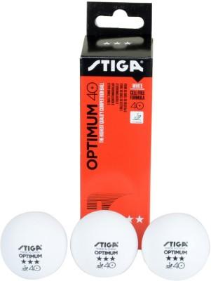 Stiga Optimum 40+ Ping Pong Ball - Size: 1.6, Diameter: 3.6 cm(Pack of 3, White)