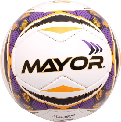 Mayor Sigma Football - Size: 5, Diameter: 5 cm(Pack of 1, Yellow, Purple)