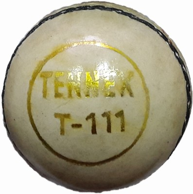Tennex Leather T-111 White Cricket Ball -   Size: Standard,  Diameter: 7 cm